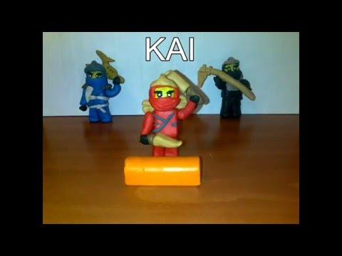 Lego Ninjas Masters of Spinjitzu from Ninjago  - Stop Motion - Plastilina