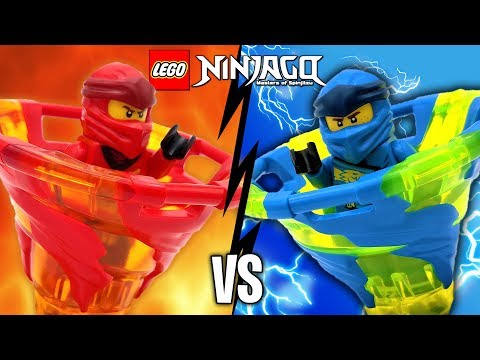 KAI vs JAY LEGO Ninjago Spinjitzu Battle & 2019 Sets Review 70659 70660