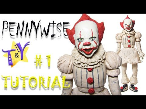 Как слепить Клоуна Пеннивайза Оно из пластилина Туториал 1 Penniwise IT from clay Tutorial1